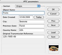 Iptc данные